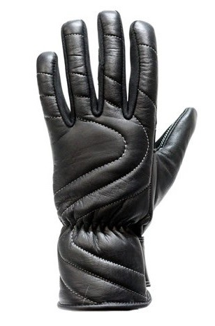 Leather Motorcycle Gloves with Insulated Lining