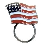 Biker Sunglasses Holder Lapel Pin USA Flag