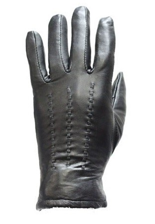 Women's Decorative Leather Motorcycle Gloves