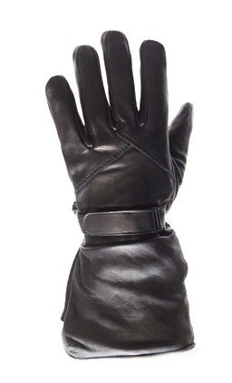 Long Leather Motorcycle Gauntlet Gloves