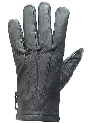 Lined Leather Motorcycle Gloves with Insulation