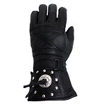 Motorcycle Gauntlet Gloves With Studs and Concho