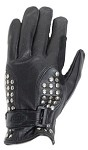 Womens Leather Motorcycle Gloves With Studs