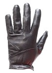 Womens Full Finger Leather Gloves With Lining
