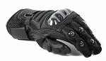Padded Hard Knuckle Leather Motorcycle Racing Gloves