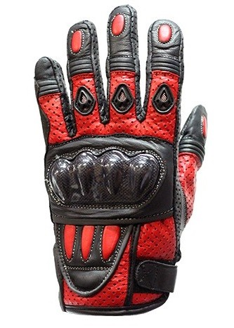 Red Motorcycle Racing Gloves with Hard Knuckle