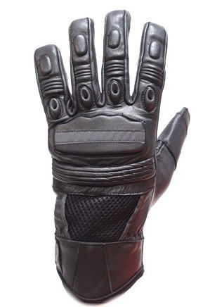 Vented Reflective Tight Grip Palm Motorcycle Gloves
