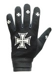 Motorcycle Mechanics Gloves with Chopper Iron Cross