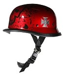 German Boneyard Novelty Helmet with Chopper Cross