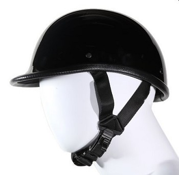 Jockey Style Black Novelty Motorcycle Helmet