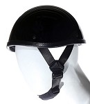 Smokey Shiny Black Novelty Motorcycle Helmet