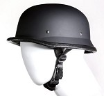 German Novelty Flat Black Motorcycle Helmet