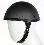 Novelty Flat Black Motorcycle Helmet With Visor Snaps