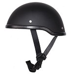 Flat Black Motorcycle Novelty Skull Cap Helmet