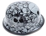 Gray Skull Graveyard German Novelty Helmet