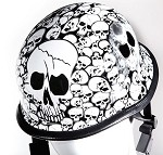 White Skull Graveyard German Novelty Helmet