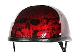 Burgundy Skull Boneyard Novelty Motorcycle Helmet