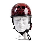 Wine Eagle Novelty Motorcycle Helmet with Skulls