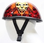 Orange Eagle Boneyard Novelty Motorcycle Helmet