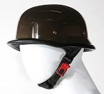 Black Chrome German Shiny Novelty Motorcycle Helmet