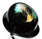 German Novelty Motorcycle Helmet With Eagle and U.S. Flag