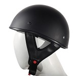 Flat Black DOT Approved Motorcycle Half Helmets