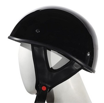 Gloss Black DOT Approved Motorcycle Half Helmets