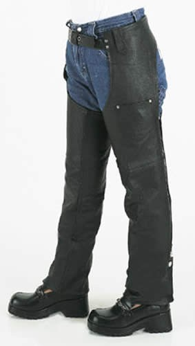 Kids Leather Chaps With Front Pockets