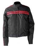 Womens Black Red Textile Motorcycle Jacket