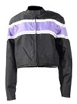 Women's Black/Purple Textile Motorcycle Jacket
