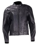 Women's Leather Motorcycle Jacket With Removable Liner