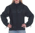 Womens Textile & Leather Motorcycle Jacket