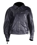 Womens Vented Leather Motorcycle Jacket