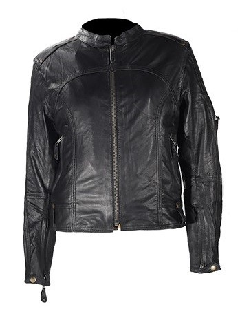 Women's Light Weight Leather Motorcycle Jacket