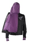 Women's Textile Jacket With Purple Hoodie & Butterfly