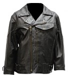 Women's Braided Pistol Pete Leather Motorcycle Jacket