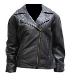 Women's Braided Leather Motorcycle Jacket