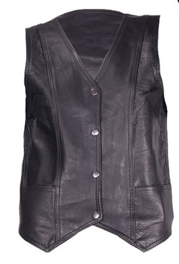 Womens Leather Vest with Gun Pockets