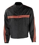 Men's Black/Orange Textile Motorcycle Jacket