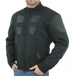 Mens Textile and leather Motorcycle Jacket