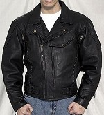 Pistol Pete Leather Motorcycle Jacket, Airvents, Z/O Lining