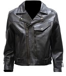 Men's Braided Vented Leather Motorcycle Jacket