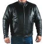 Men's Motorcycle Jacket, Airvents, Z/O Lining, Side Laces