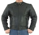 Mens Motorcycle Jacket with Air vents, Z/O Lining, Gathered Sides