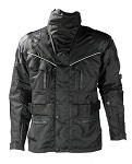 Men's Textile Reflective Piping Long Motorcycle Jacket