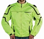 Green and Black Armored Motocross Motorcycle Jacket