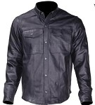 Mens Leather Shirt with Front Pockets