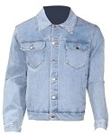 Mens Long Sleeve Blue Denim Shirt With Buttons