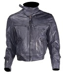 Mens Vented Leather Motorcycle Jacket with Zip Out Lining