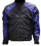Black and Blue Armored Motocross Motorcycle Jacket